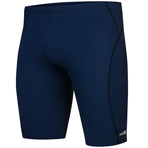 Aqua Speed Jammers Schwimmhosen eng Herren + gratis eBook   knielange Badepants   UV Swimwear   sportliche Badehose   Gr. L, 14. Blake, Blu Assoluto