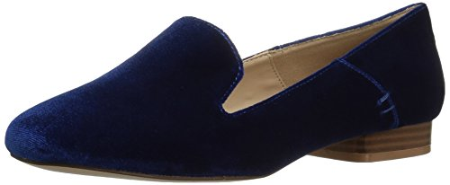 Athena Alexander Women's Lyrik Tuxedo Loafer, Navy Velvet, 5.5 M US