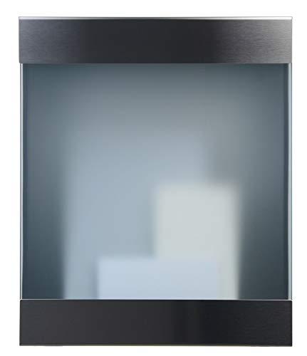 Keilbach Designprodukte 71101 Keilbach, Briefkasten glasnost.glass.360, Edelstahl/Sicherheitsglas, hochwertige Verarbeitung, Klassiker seit 2000, Design Award: FORM 2001, Schwarz, One Size