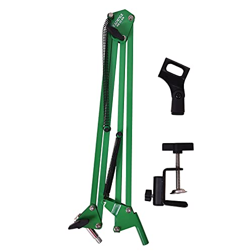 Kadence Microphone Suspension Boom Scissor Arm Mic Stand In different Colours, Orange, White, Red, Green, Blue and Black (Green)