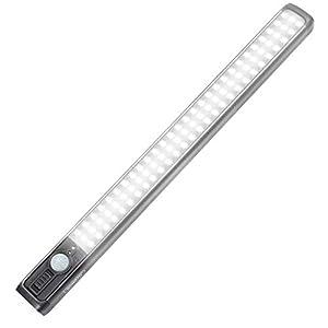 84 LED Closet Light 4W Motion Sensor Closet Lights Rechargeable Under Cabinet Lighting Wireless Wardrobe Light for Closet,Kitchen 4000K 2500mAh Battery Powered Closet Light bar 3 Mode (ON/Off/AUTO)
