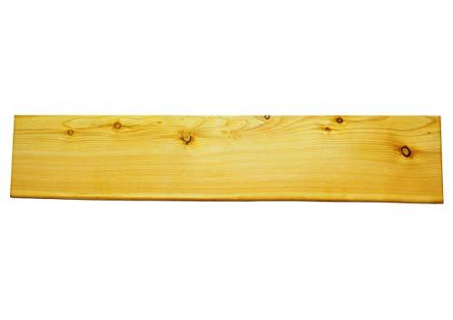 Wandregal mit Baumkante - Kiefer - 80 cm x 20cm x 4,2 cm