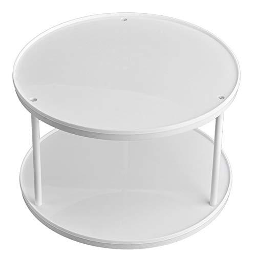 Especiero 360 grados de rotación de la grada 2 bandeja de frutas Especias Volviendo tabla de la torta de almacenamiento en rack rack Inicio de cocina Almacenamiento de cocina, almacenamiento de especi