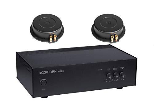 A-803i Mono Verstärker für Subwoofer und Bass Shaker + 2 x BS-200i Körperschallwandler von Reckhorn