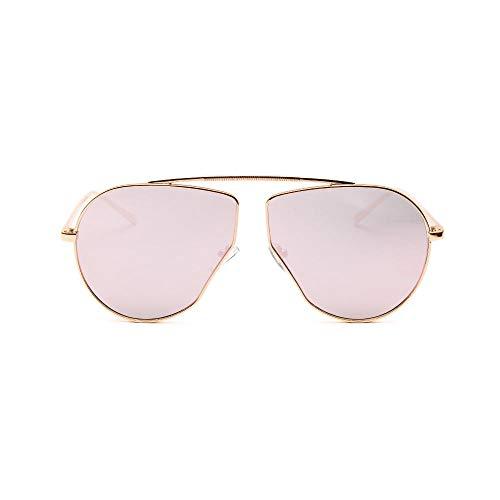 Siyse Gafas de Sol Gafas de Sol Retro Para Mujer Con Marco de Metal de Borde Grande Aviator-C