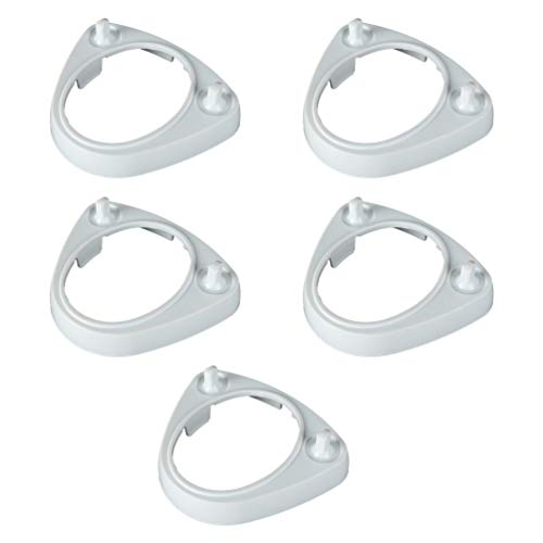 TOPBATHY 5 Pcs Électrique Brosse À Dents Base Support Stand en Plastique Brosse Têtes Affichage Rack Organisateur De Stockage Compatible pour Oral-B Braun