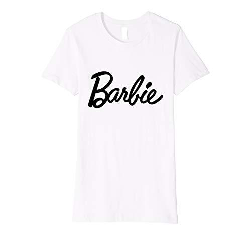 Damen Barbie T-Shirt, Logo, schwarz, viele Größen+Farben
