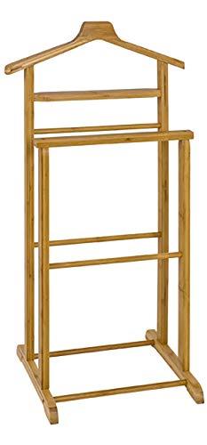Haku Möbel Herrendiener - Bambus massiv - mit Bügel Höhe 97 cm