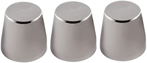 Ateco 4942 Stainless Steel Small Rum Baba Mold, Set of 3, 1.6 by 2-Inches High, Holds 3 Fluid Oz