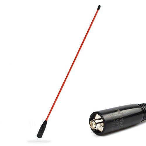 TWAYRDIO 2-Way Radio Dual Band Radio Antenna SMA Female High Gain 2m 70cm Handheld Radio Flexible Whip Antenna for BaoFeng UV-82 UV-5R BF-F8HP GT-3 BF-888s for Kenwood Wouxun Walkie Talkie