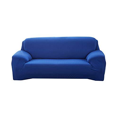 enfärgad sofföverdrag elastiskt överdrag soffa vardagsrum möbler dekorativ sektionssoffa överdrag vilstol skydd-sjö blå-1 st 1 säte 90-140 cm