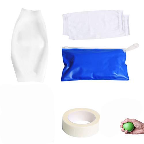 HEALLILY 1 Satz Wasserdichte Armschutz Wiederverwendbare Ellenbogen Ärmel Ellenbogenbandage Unterstützung Abdeckung für Dusche Schwimmen Größe S