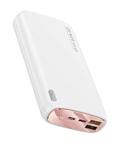 PowerBank 26800mAh, Caricatore Portatile con 4 Porte, PD20W Carica Veloce Batteria Esterna per iPhone 12 11 Pro Max XS XR X, Samsung Galaxy S10 S9 (carica rapida,bianca)