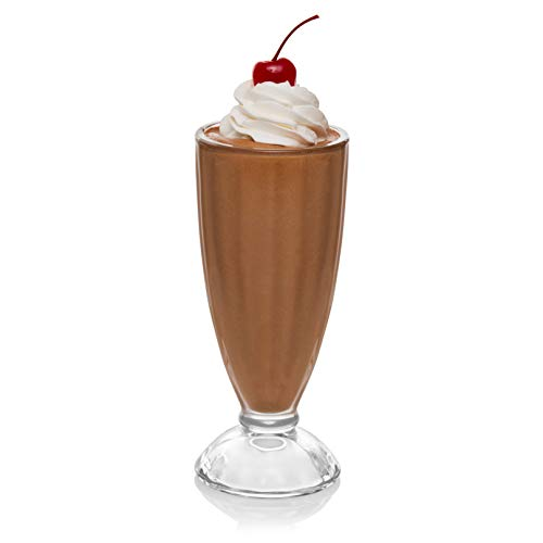 Libbey Fountain Shoppe Milkshake Glasses, Set of 6