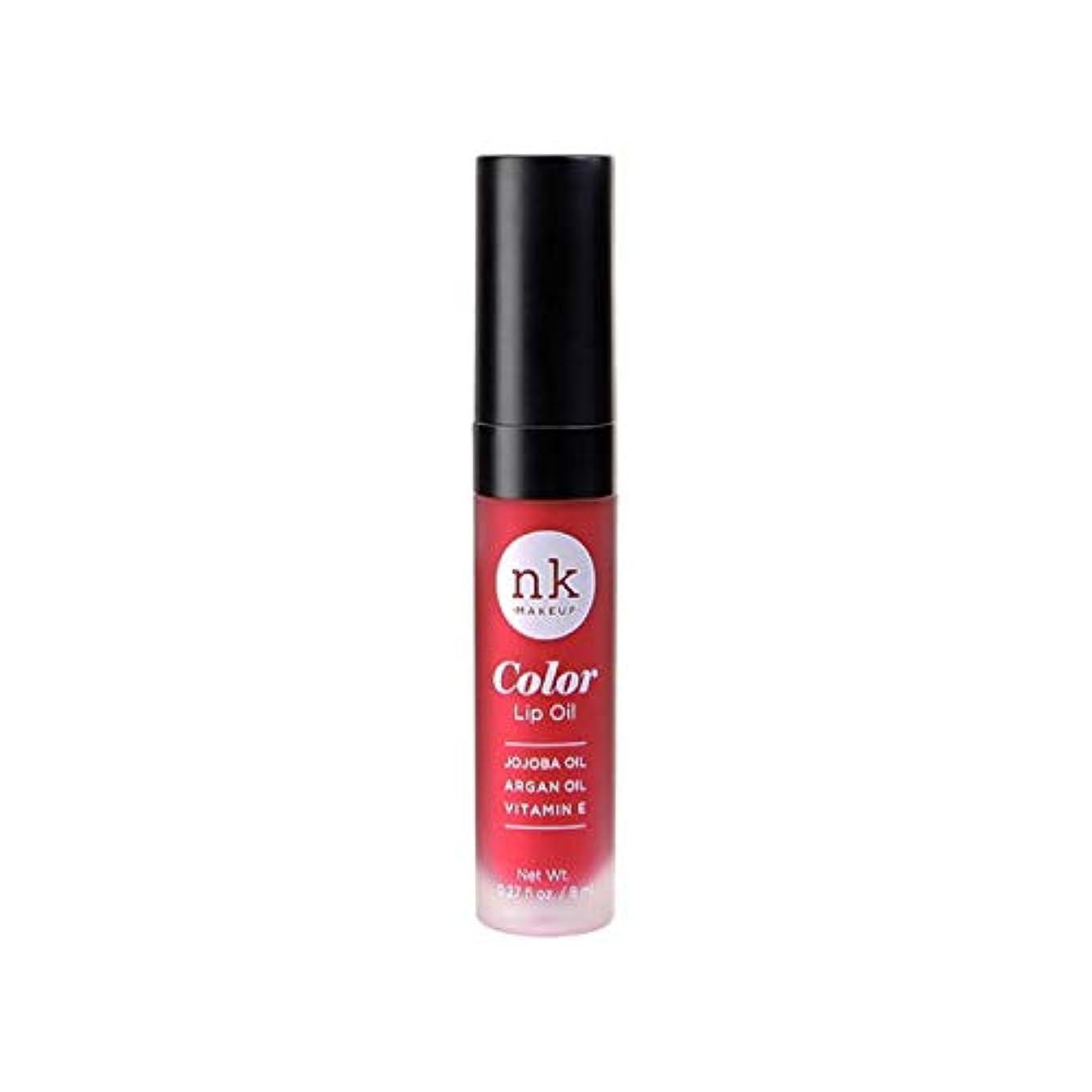 ポイント艶発揮するNICKA K Color Lip Oil - Poppy (並行輸入品)
