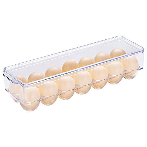 MLWTB - Koelkast/Freeze Binz Ei Houder, Ei Container, Speciale Ei Doos Binnen De Koelkast Zijde, Transparante Ei Dozen, 14 Ei Bekers
