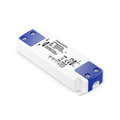 deleyCON 12V Slim LED Trafo Transformator Netzteil 0-20W 200-240V zu 12V DC LED Lampen Lichtstreifen G4 MR11 MR16 Leuchten Überladung Überhitzung