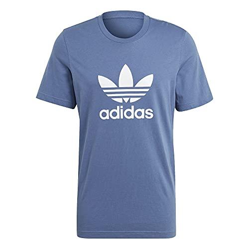 adidas Camiseta de trébol azul y blanco M