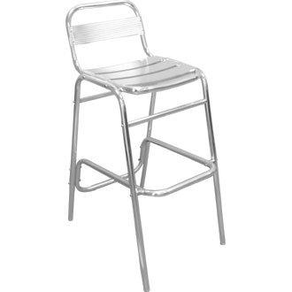 Jardin/Patio Tabouret de bar/Chaise avec dossier en aluminium (Lot de 4) – Meubles élégant et durable pour votre jardin