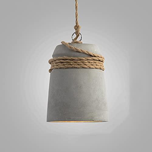 NAMFXH Personalidad Creativa Araña Tejida a Mano Cuerda de cáñamo Lámpara Colgante Personalidad Moda Luz de suspensión Simple E27 Dormitorio Restaurante Tienda de Ropa Pastelería Droplight