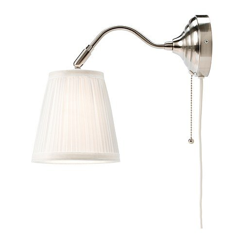 IKEA ARSTID - Lámpara de pared, niquelado, blanco