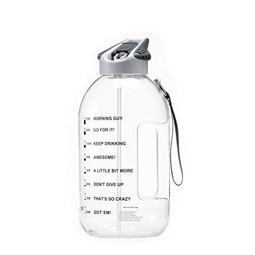 bottled joy half gallon water bottle with straw