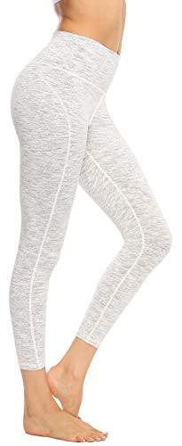 Persit Damen 7/8 Leggings, Sporthose Yogahose Sport Leggins für Damen Yoga Tights,XL,Weiß