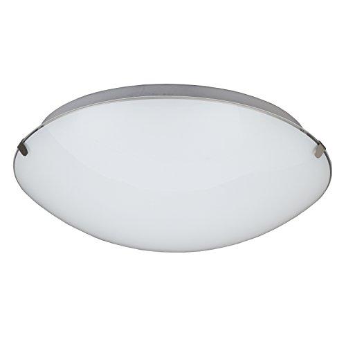 B.K.Licht LED Deckenleuchte I Deckenlampe aus Metall und Glas I inkl.11,5W I 900 Lumen I Flur Lampe I 3000K warmweiß I Ø30cm