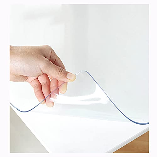 Mantel 1,5mm Grosor,cubierta De Mesa De Pvc Antimanchas,almohadilla Protectora Cristal Transparente,manteles De Plástico Para Exteriores, Picnic,camping,fácil De Limpiar,100x130cm/39.4*51.2in