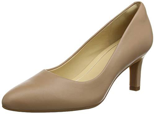 Clarks Damen Pumps, Beige (Praline Leather), 42 EU
