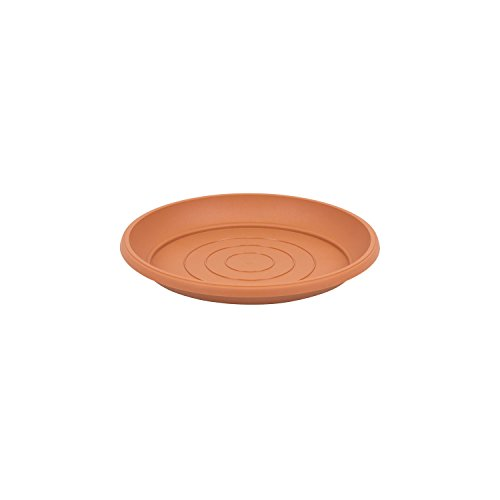 Terra soucoupe en plastique, marron couleur, diametre: 11 cm