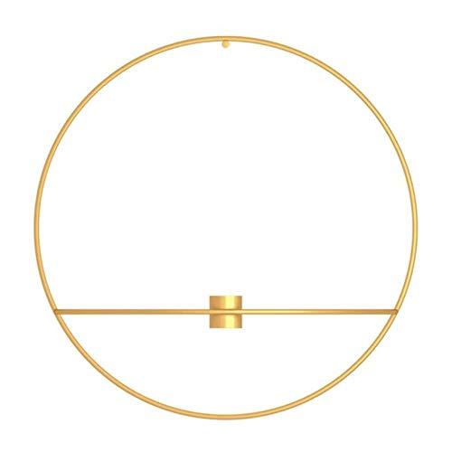 DIAOSUD Kerzenständer Dekoration,Gold Für Moderne Kunst 3D Wand Kerzenhalter Metall Vintage Hängend Trocknen Blumenvase Geometrische Teelicht Home Decor Leuchter