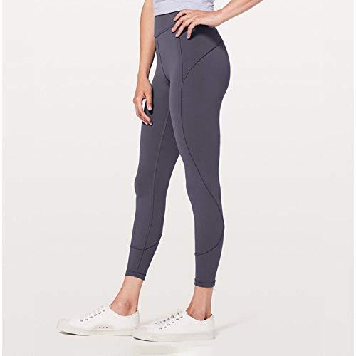 B H Mujer Feeling Leggings Deportivas,Pantalones Deportivos de Yoga Fitness, Pantalones de Tobillo de Cintura Alta elásticos-Gris_L,Fitness Estiramiento Yoga Pilates Pantalón
