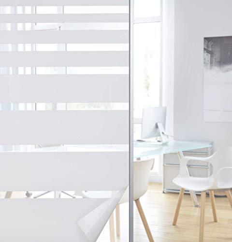Gardinenbox 201916000-001 Fensterfolie selbsthaftend Sichtschutzfolie Anti-UV statische Haftung Folie selbstklebend, 201916000, Streifen, 67x200 cm