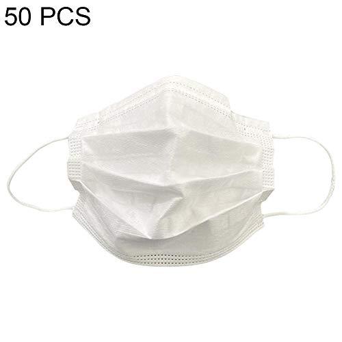 50 Stks Wegwerp Beschermend Gezichtsmaskers - 3-Ply Stofdicht, Ademend en Comfortabel Antivirale Maskers voor heren Dames Buitensporten Hardlopen Wandelen Fietsen