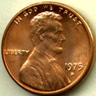 1975-D Lincoln Memorial Cents Bank Roll, Uncirculated