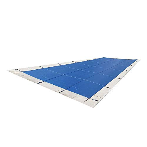 Lite Strong Inground Safety Pool Cover - Blue 20'x40' Mesh - Rectangle Inground Winter Swimming Pool Cover