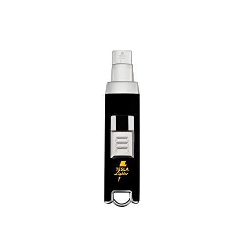 TESLA Lighter T06 Lichtbogen-Feuerzeug, elektronisches USB Stabfeuerzeug, Single-Arc Lighter, wiederaufladbar, Matt-Schwarz