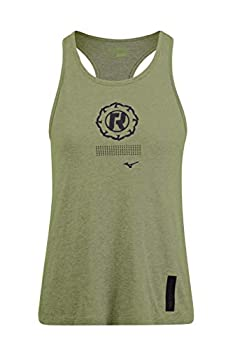 Tank Top by Mizuno x Ronda Rousey Graphic Tank Workout Tops for Women Grape Leaf Large