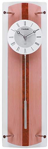 Krippl-Watches Pendeluhr Holz, mit Quarz-Uhrwerk