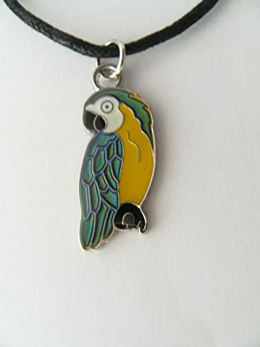 Stimmungskette Ara, Papagei, Kette Anhänger Modeschmuck Ketten Geschenke Schmuck Vogel Tier