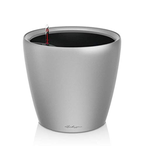 Preisvergleich Produktbild Lechuza - plantenbak Classico Premium 28 LS zilver metallic All-IN-ONE Set