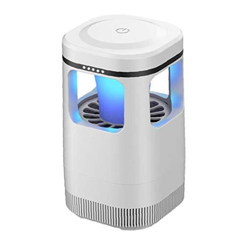 Ohomr Trampa del Mosquito de la lámpara portátil USB Repelente de Mosquitos Enchufe del Insecto Asesino de luz para el hogar llevada al Aire Libre de Mosca del Mosquito del Asesino (Blanco)