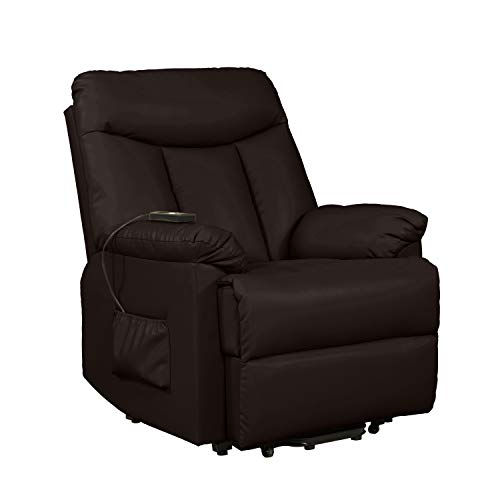 Domesis Leather Power Lift Sleep Chair Recliner