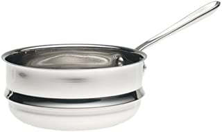All-Clad 5703DB Stainless Steel Double Boiler Insert Cookware, 3-Quart, Silver