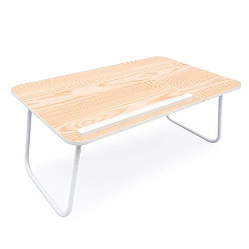 LJYAO laptoptafel in vier standen tillen van houtnerf anti-slip ventilatie notebook bureau geschikt voor slaapbank terras balkon tuin