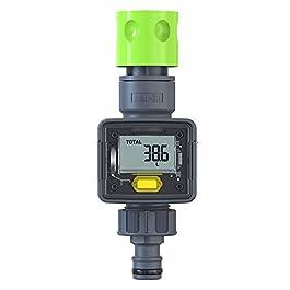Rain Point Compteur d'eau Pratique, Minuterie D'Arrosage, Programmateur Arrosage avec Affichage LED, 4 Modes de Mesure…