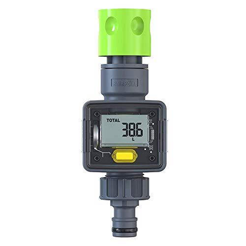 Rain Point Contatore acqua, pratico orologio da giardino, 4 modalità di controllo del consumo dell'acqua, contatore di acqua per rubinetti/dispositivi di consumo, connettore 3/4 pollici