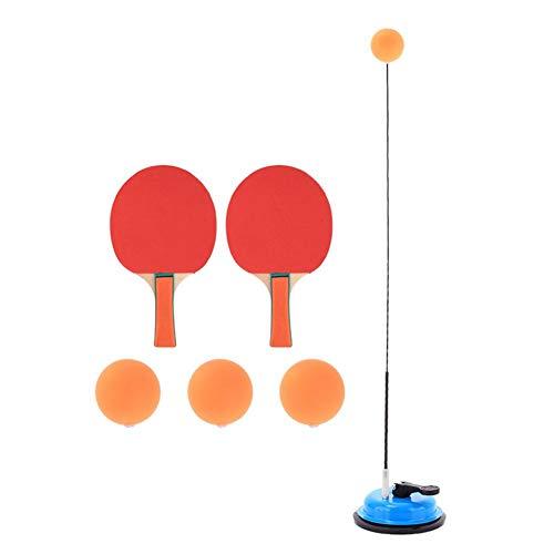 Tischtennistrainer Mit Elastischer Weicher Welle Pingpong Ball, Mit Rot/Blau Saugnapf Eisen Basis für Erwachsene und Kinder, verbessert Koordination/Reaktion/Fähigkeit