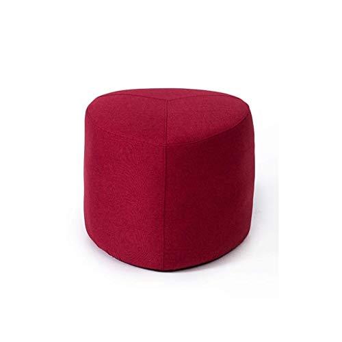 Nevy Repose-Pieds , Ottoman, Support en Bois Massif Salon Canapé Tabouret Tabouret Créatif Tabouret Bas Table Basse (Color : B)